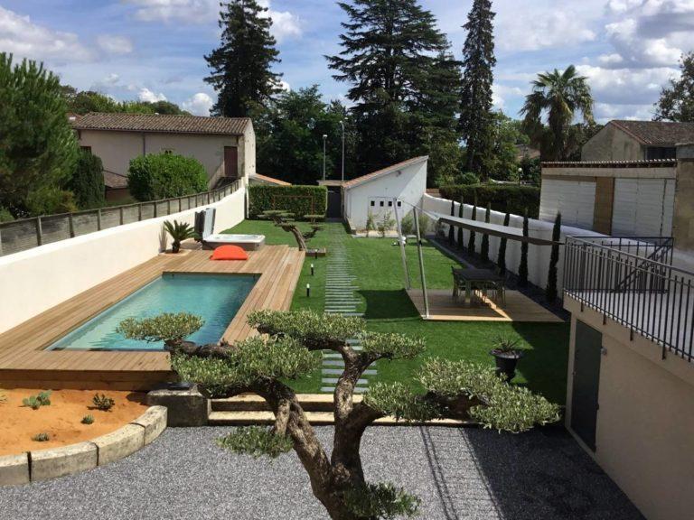 création et réalisation d'un jardin unique à BOULIAC proche VILLENAVE D'ORNON