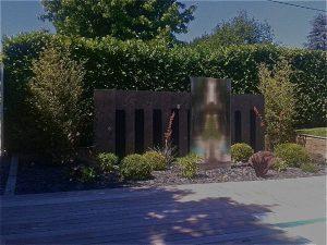 Création de massif avec fontaines intégrées ST AUBIN DU MEDOC proche BORDEAUX