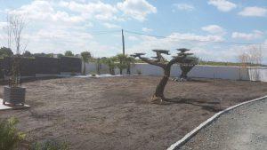 Réalisation du terrassement pour pose du gazon BORDEAUX 33