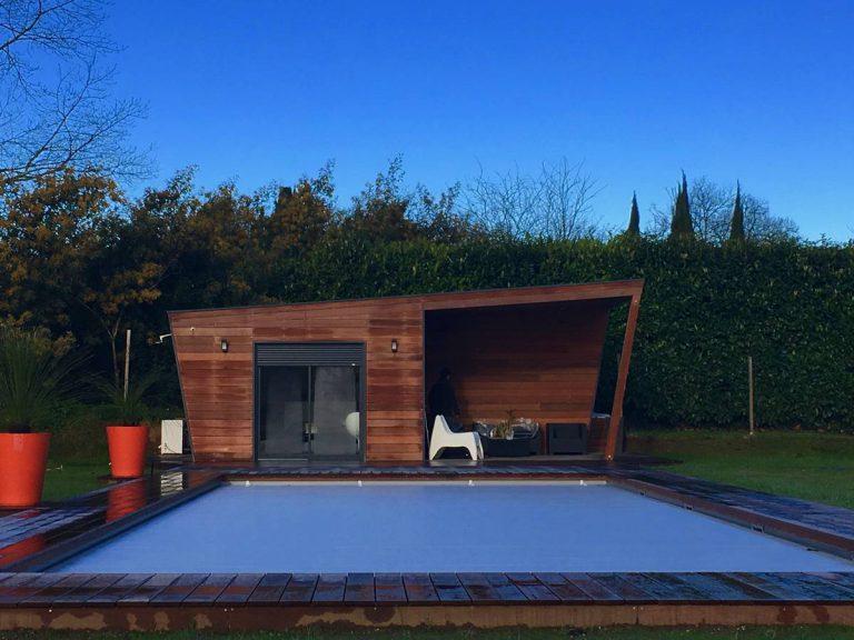 Création pool house bois CENAC proche CARIGNAN DE BORDEAUX