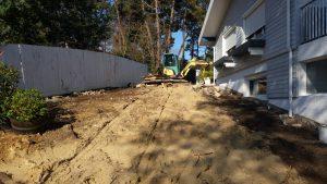 Terrassement pour mise en préparation du chantier BORDEAUX en GIRONDE